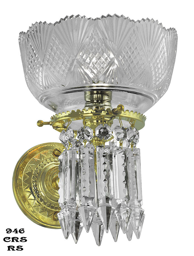 Next Crystal Wall Lights : Vintage Early Victorian Crystal Prism Chandeliers and Sconces Neo-Recoco Victorian Lighting Blog