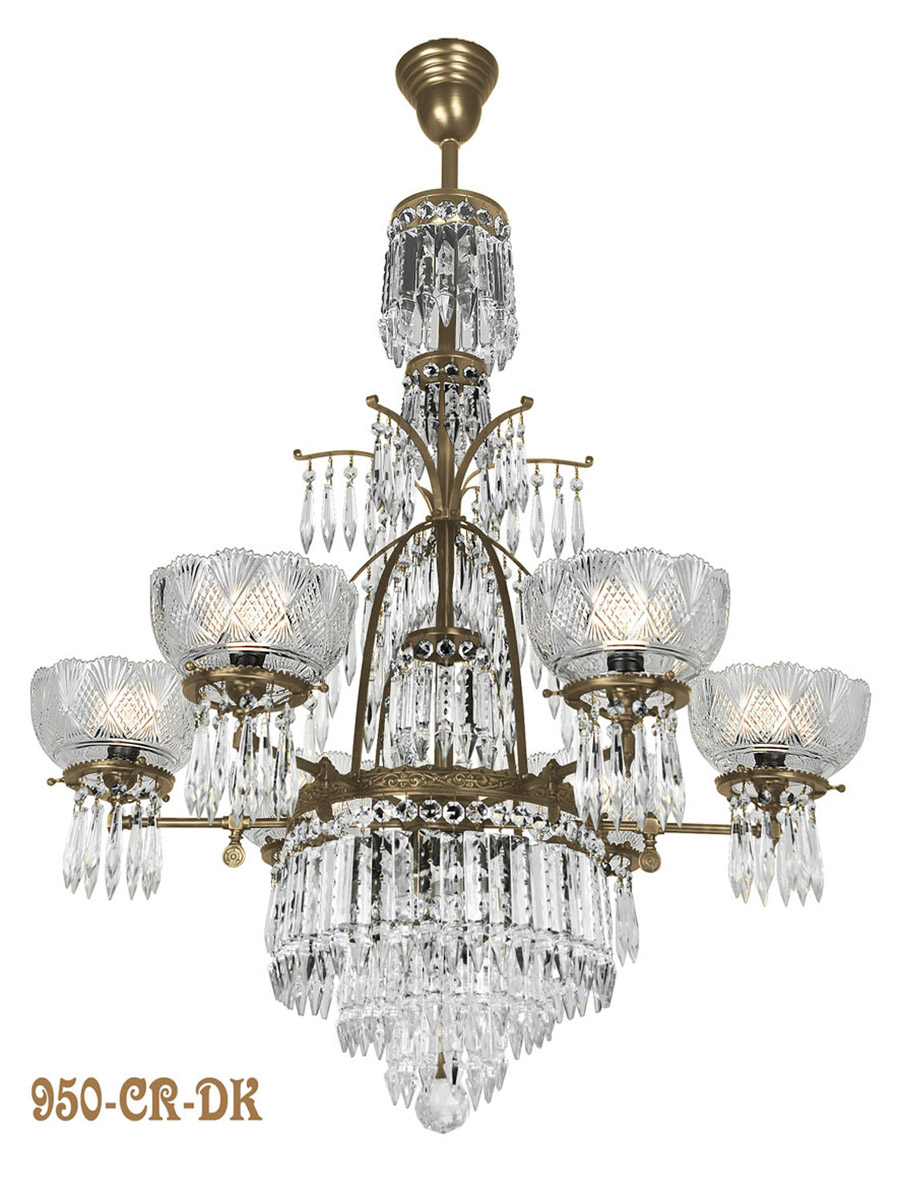 Vintage early victorian crystal prism chandeliers and sconces neo rather than just being some thrown together crystal chandelier with no history like others on the market ours is a documented gas chandelier made about aloadofball Images